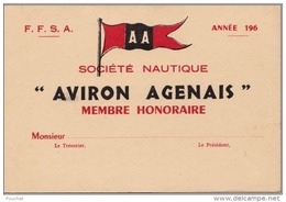 47) AGEN -  SOCIETE NAUTIQUE  - AVIRONS  AGENAIS  - (2 SCANS) - Agen