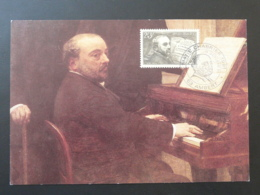 Carte Maximum Compositeur Composer Emmanuel Chabrier Ambert 63 Puy De Dome 1991 (ex 1) - Musica