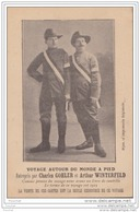 VOYAGE AUTOUR DU MONDE A PIED Entrepris Par Charles GOHLER Et Arthur WINTERFELD - (éditeur Dijon - Imprimerie Régionale) - Célébrités