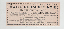 Publicité 1937 Hôtel De L'Aigle Noir Huguet Jussey - Werbung