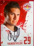 Red Bull Chris Vandevelde - Handtekening