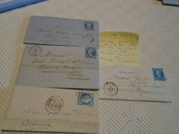 SAONE/LOIRE  - 4 Lettres -  OBL/AUTUN  IND/2 + VERDUN/S/SAONE IND/4 +TOURNUSIND/3 +LOUHANS IND/2-  3 PHOTOS - 1849-1876: Période Classique