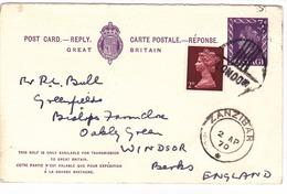 G.B. / Stationery / Reply Cards / Zanzibar. - 1952-.... (Elizabeth II)