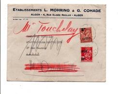 ALGERIE AFFRANCHISSEMENT COMPOSE SUR LETTRE A EN TETE DE ALGER 1947 - Unclassified