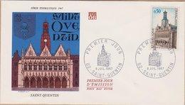 ENVELOPPE TIMBRE 1967  SAINT QUENTIN - FDC