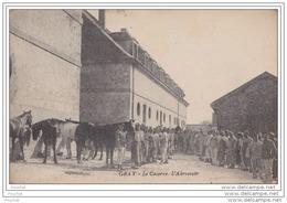 70) GRAY  - LA CASERNE -  L´ABREUVOIR  - (TRES ANIMEE - CHEVAUX  - CHEVAL - CAVALERIE) - Gray