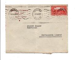 ALGERIE LETTRE A EN TETE DE ORAN POUR LA FRANCE 1936 - Covers & Documents