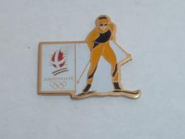 Pin's ALBERTVILLE 92, SKI DE FOND - Jeux Olympiques