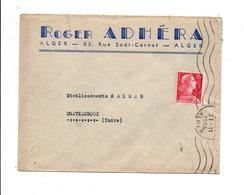 ALGERIE LETTRE A EN TETE DE ALGER  POUR LA FRANCE 1956 - Covers & Documents