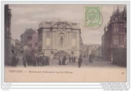 Verviers.- Monument Ortmans Et Rue Des Raines  -  - (belle Animation) - Verviers