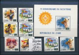 CONGO KINSHASA ZAIRE SCOUT COB 1293/1300 + BL62 MNH - Zaïre