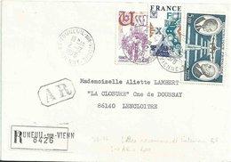 YT 1872 - Ussel - YT 1919 - Foires Expositions - YT PA 46 - Daurat Vanier - Lettre Recommandée De Vouneuil Sur Vienne - Marcofilia (sobres)