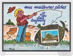 47) Fongrave (Lot Et Garonne) Mes Meilleurs Pêches, Je Les Fais Toujours à Fongrave  (illustrateur Prus  - éditeur Arno) - France