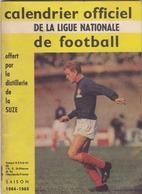 CALENDRIER OFFICIEL DE LA LIGUE NATIONALE DE FOOTBALL 1964/65 Lire DESCRIPTION (lot 462) - Habillement, Souvenirs & Autres