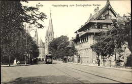 Cp Berlin Charlottenburg, Haupteingang Zum Zoologischen Garten - Germany