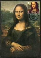 GIBRALTAR (2019). 500th Anniversary Leonardo Da Vinci - Carte Maximum Card - Mona Lisa, Gioconda, Monna Lisa, Joconde - Gibraltar