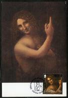 GIBRALTAR (2019). 500th Anniversary Leonardo Da Vinci - Carte Maximum Card - St. John The Baptist, Saint Jean Baptiste - Gibraltar