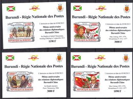 Burundi - COB 2369 / 72 ** - NON Dentelé - Relations Diplomatiques Burundi Chine - Mao Zedong - Valeur 36 € +++ - Mao Tse-Tung