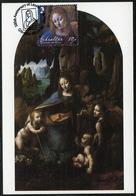 GIBRALTAR (2019). 500th Anniversary Leonardo Da Vinci - Carte Maximum Card - The Virgin Of The Rocks - Gibraltar