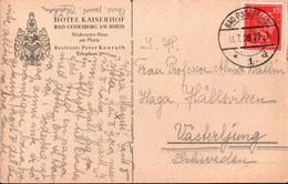 !  Alte Ansichtskarte 1928 Bonn Bad Godesberg, Hotel Kaiserhof, Mi.Nr. 391 Immanuel Kant Aus Markenheftchen - Germania