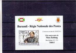 Burundi - COB 2578 ** - NON Dentelé - 120 Anniversaire De Mao Zedong - Valeur 35 € +++ - Mao Tse-Tung