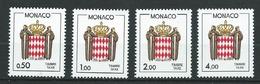 MONACO 1986 . Taxes . Série N°s 83 à 86 . Neufs ** (MNH) - Taxe