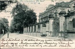 !  Alte Ansichtskarte Wiesbaden, Victoriastraße, Hotel Kaiserhof, Verlag Carl Boogaart, 1902, Gel. Nach Stockholm - Wiesbaden