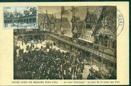 FRANCE N°499 Carte Maximum  Hotel Dieu De BEAUNE  Ref B2 J Du T BEAUNE 10.10.1943 Cote 70 €. - Cartes-Maximum