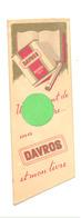 Marque-pages  - Cigarettes DAVROS, Cigarette, Tabac,fumeur,...Librairie De Rome à Bruxelles  - Signet  (b260) - Marque-Pages