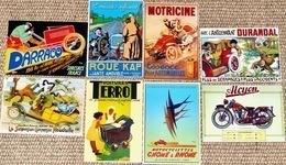 Lot De 8 CPM Publicitaires (auto, Moto): Terrot, Gnone & Rhone, Cap, Motricine, Alcyon, Durantal, Houdaille, Darracq - Unclassified