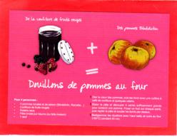 CP Grand Format, Recette De Cuisine, Douillons De Pommes Au Four, Confiture, Normandie - Recettes (cuisine)