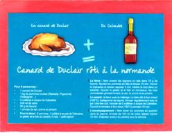 CP Grand Format, Recette De Cuisine, Canard De Duclair Rôti à La Normande, Calvados, Pommes, Normandie - Recettes (cuisine)