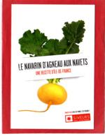 CP Grand Format, Recette De Cuisine, Navarin D'Agneau Aux Navets, Paris Île-de-France - Recettes (cuisine)