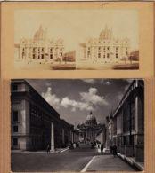 It282 Stereo-Photo ROMA San PIATRO Rome Basilique SAINT-PIERRE 1890s-1 CPSM 1950 à MESNIL Lassay - San Pietro