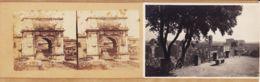 It281 Stereo-Photo ROMA Arco De TITO Rome Arc De TITUS Arc Of 1890s + 1CPSM 1940s Sul PALATINO - Altri