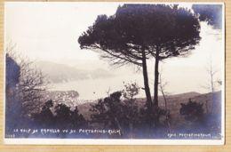 It285 Carte-Photo Golf De RAPALLO Vu Du PORTOFINO-KULM Liguria 1910s J NEER 0003 - Genova