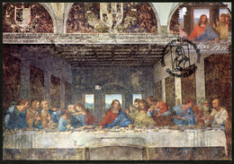GIBRALTAR (2019). 500th Anniversary Leonardo Da Vinci - Carte Maximum Card - The Last Supper, Cenacolo (check Postmark!) - Gibraltar