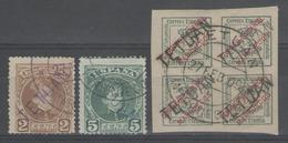 MAROC:  Bureaux Espagnols N°15+16+21 Oblitérés        - Cote 65€ - - Marruecos Español