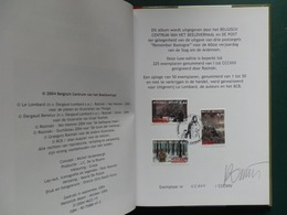 BOX T      ALBUM UITGIFTE SAMEN MET DE POST  REMEMBER BASTOGNE 325 EX. + GESIGNEERD - Bandes Dessinées