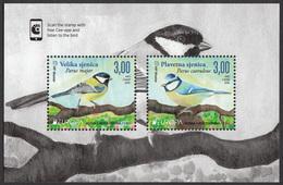 Bosnia Croatia 2019 Europa CEPT National Birds Fauna Parus Major, Parus Caeruleus, Block Souvenir Sheet MNH - 2019