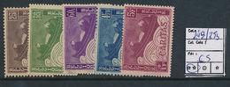 BELGIUM COB 249/253 MNH - Unused Stamps