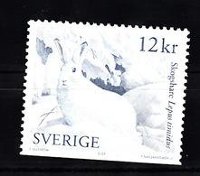 Zweden 2009 Mi Nr  2732 Du Onderkant Gesneden, Sneeuwhaas, Hare - Suède