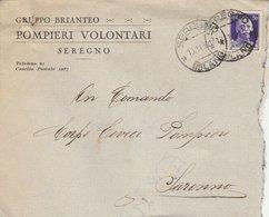 Seregno. 1930. Annullo Guller SEREGNO *MILANO* Su Busta GRUPPO BRIANTEO POMPIERI VOLONTARI SEREGNO - 1900-44 Victor Emmanuel III