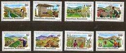 Rwanda Ruanda 1980 OCBn°  1020-1027 *** MNH Cote 7 Euro Faune Et Flore - 1980-89: Nuevos