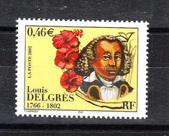 Francia - 2002. Luis Delgrés, Antischiavista Del '700. Anti-slavery Of The '700. Flower Of Martinica. MNH - Altri