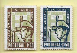 TIMBRES - STAMPS - PORTUGAL - 1954 - 150 °. CENTENAIRE DE LA FONDATION DU COLLÈGE MILITAIRE - SÉRIE TIMBRES OBLITÉRÉS - Oblitérés