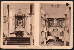 C7574 - Dittersdorf Amtsberg - Gel Stempel Gersdorf - Kirche - Paul Knäbchen - Gersdorf