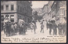 CPA  Suisse, NEUCHATEL, Rue Des Terreaux, 1904 - NE Neuchâtel