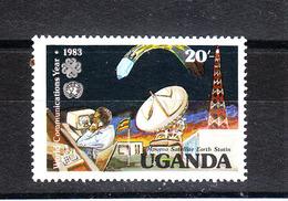 Uganda   - 1983. Trasmissioni Via Satellite. Satellite Broadcasts. MNH - Telecom