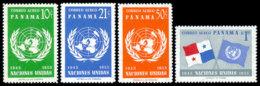 Panama, 1958, United Nations 10th Anniversary, MNH, Michel 517-520A - Panama